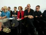Part of the jury in red Lous Geerlings and Ruud van der Peijl