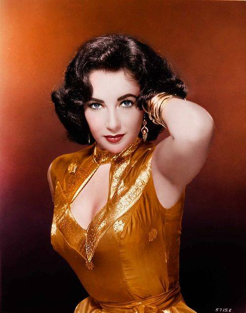 Liz Taylor in Burnt Orange