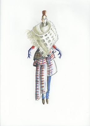 Illustrations by Mimi Berlin for Saba Tark's collection Nomads of the World