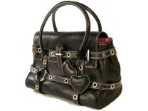 Pre owned Luella Black Leather Gisele Handbag. via bagboudoir.co.uk