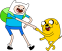 Adventure Time, brothers Finn and Jake
