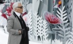 Karl Lagerfeld brings his Spring/Summer 2015 Haute Couture collection for Chanel to Paris Photograph: Ian Langsdon/EPA (image via the guardian)