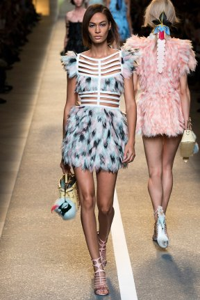 Feathers at Fendi
