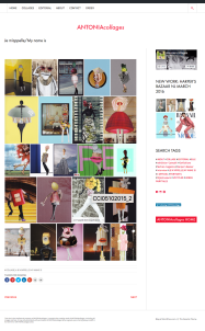 Website Design by Appdikted @Mimi Berlin for AntoniaCollages
