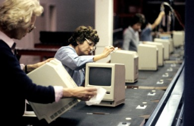 Macintosh Computer Assembly Line in 1984