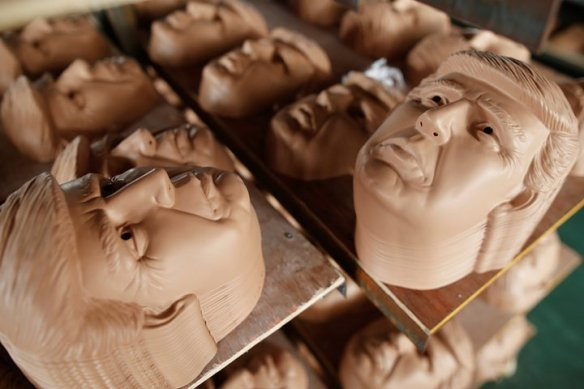 Plastic USA Politicians Faces