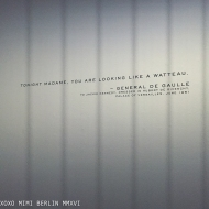 One of the quotes, which were placed throughout the exhibition