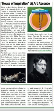 "newspaper clipping ""De Groene Venen"" November 18, 2016"