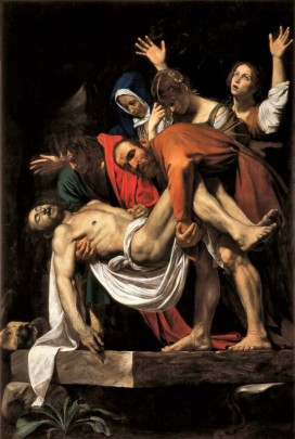 Caravaggio, Deposition from the cross, circa 1600-1604 Oil on canvas, 300 x 203 cm
